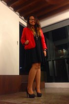 black mullet H&M dress - hot pink Forever 21 blazer