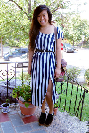 navy striped maxi Urban Outfitters dress