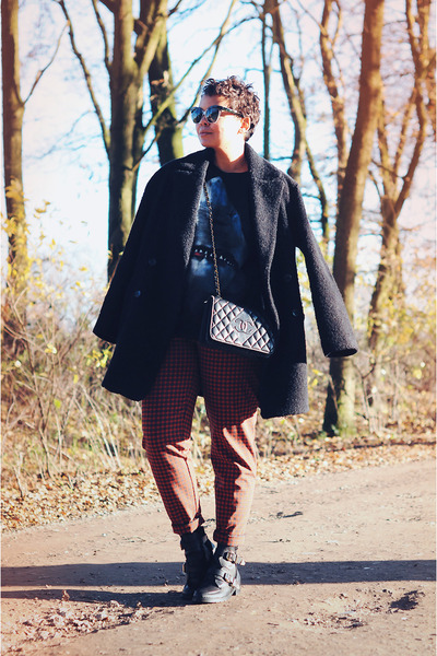 Choies sweater - Choies boots - Mango coat - Chanel bag - chanel vintage bag