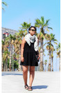 Asos-dress-weekday-scarf-monki-sunglasses-birkenstock-sandals