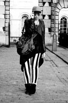 black ohmyfrock jacket - black Zara bag - black asos top - black Ebay sneakers