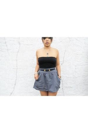 H&M skirt - vintage top - vintage necklace
