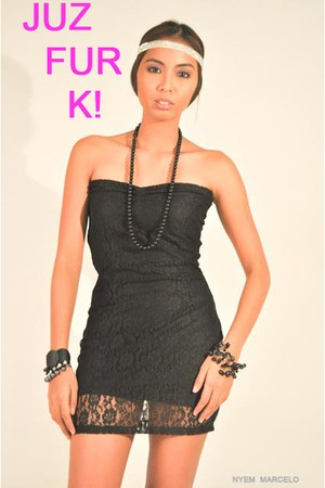 black lace dress JUZ FUR K dress