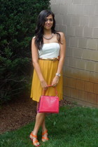 Forever 21 dress - Forever 21 bag - Nine West wedges