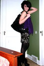 Purple-express-cardigan-black-the-limited-dress-black-nicole-lee-purse-bla