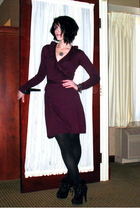 red Target dress - black Express tights - black Urbanogcom boots