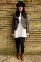 lace free people dress - chelsea asos boots - faux leather Forever 21 jacket