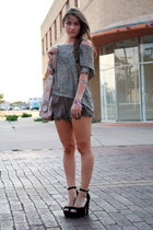 Urban Outfitters sweater - leather Diesel bag - chocolate silk Audrey shorts - p