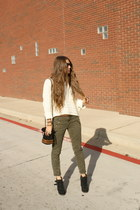 military Gap jeans - Dolce Vita boots - Forever 21 sweater