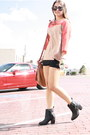 Leather-h-m-boots-box-top-loft-shirt-crochet-urban-outfitters-shorts