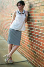 Cream-skies-are-blue-shirt-beige-mia-wedges-black-stripes-old-navy-skirt