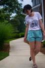 White-dressing-on-the-side-shirt-aquamarine-everly-shorts
