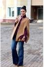 Bronze-boots-navy-h-m-jeans-magenta-baekgaard-bag-magenta-no-brand-blouse