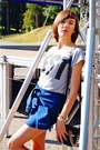 Navy-jeans-choies-skirt-gray-sinsay-t-shirt-black-stradivarius-sandals