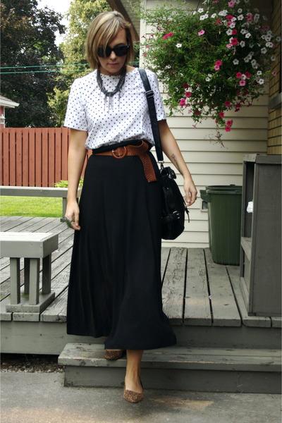 Forever 21 bag - top - joe fresh style skirt - madewell necklace