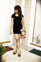 Michael Kors bag - Guess shoes - thrifted express dress - Kenneth Colee glasses