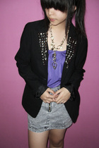 klik-klok shop blazer - Nyla top - Yuan skirt - Forever21 necklace