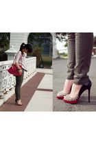 red Chloe bag - red Christian Louboutin shoes