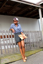 Urban Outfitters hat - H&M shirt - vintage shorts - zeroUV sunglasses