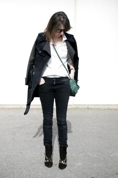 Zara boots - Burberry coat - Old Navy shirt - Givenchy bag - Zara pants