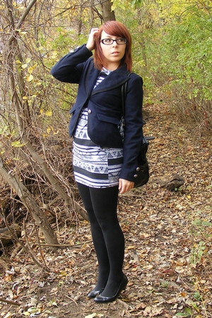 American Apparel dress - XXI blazer - Express leggings - Mossimo shoes