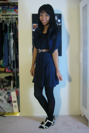 forever 21 dress - Old Navy tights - Circa Joan and David shoes