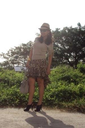 skirt - thrifted blouse