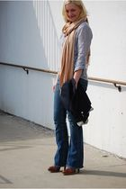 True Religion jeans - Urban Outfitters shirt - scarf - Chinese Laundry boots - J