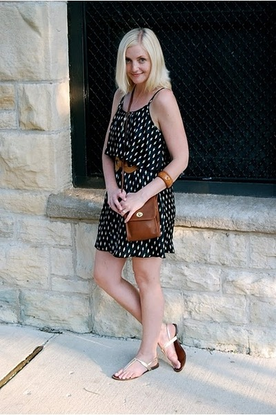 Nasty Gal dress - coach purse - Steve Madden shoes - Ten Six Tweny necklace