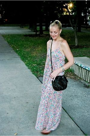 Zara dress - olivia harris purse - vintage bracelet - Ten Six Twenty earrings -