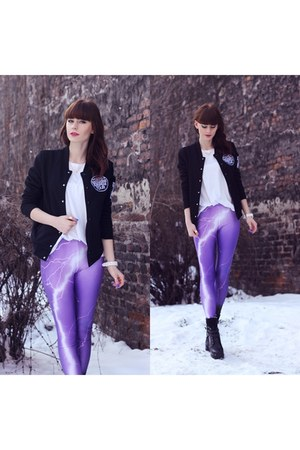 purple Romwecom leggings