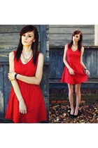 red PERSUNMALL dress