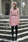 Zara-dress-pimkie-sweater-calzedonia-tights-bijou-brigitte-hair-accessory