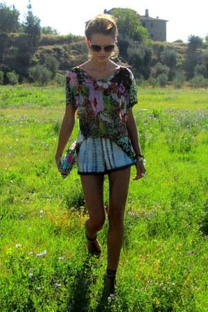 Zara shorts - Miu Miu sunglasses - Zara heels