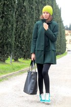 Zara coat - Mango bag - nike sneakers