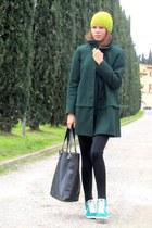 Zara coat - Mango bag - nike sneakers