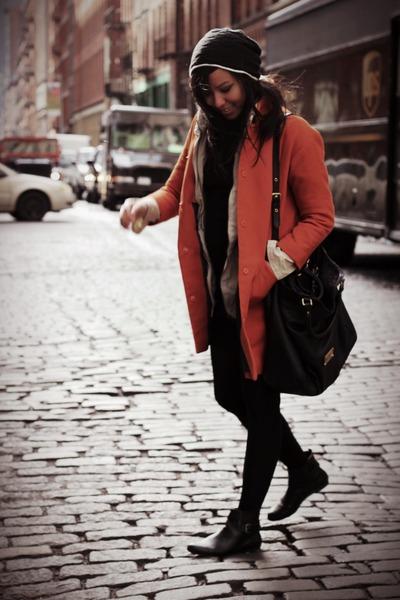Zara boots - H&M coat - Marc by Marc Jacobs purse