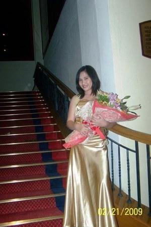 silk gold gown dress
