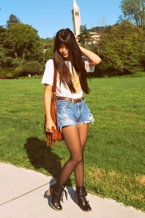 brown fringe H&M bag - black Urban Outfitters boots