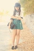 teal rose-printed Kimchi Blue shorts
