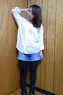 Black-zara-boots-white-moussy-shirt-blue-a-f-shorts