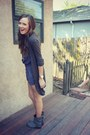 Charcoal-gray-boots-gray-h-m-cardigan-navy-pins-and-needles-romper