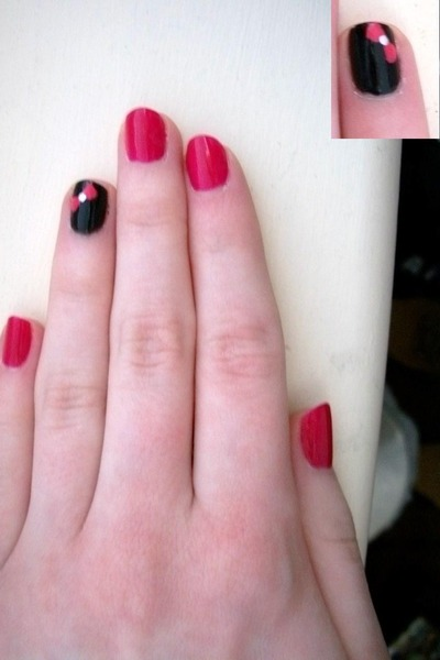 pink nail polish designs. hot pink nail polish Milani