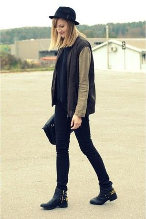 H&M boots - H&M hat - Zara bag