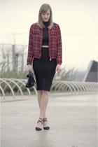 midi pull&bear skirt - tartan Zara jacket