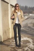 H&M shirt - leather Topshop pants