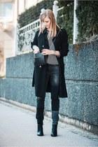 Topshop coat - Zara jeans