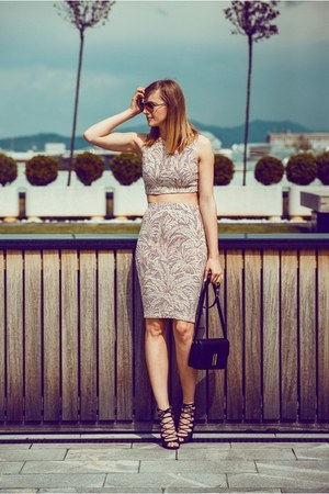 Zara skirt - Boohoo heels