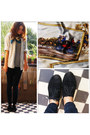 Black-shoes-blue-jeans-periwinkle-shirt-black-top