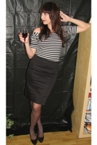 Suzy Shier shirt - H&M skirt - ardenes stockings - payless shoes